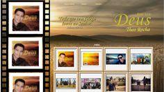 Página de fotos do site do Cantor Theo Rocha