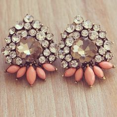 Vintage Earrings with Coral accents.