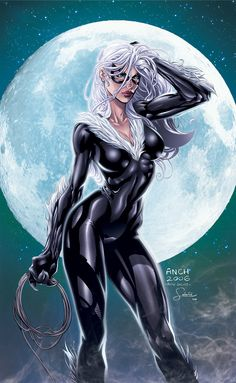 The Black Cat from The Marvel Comic Universe. Comic Book Artists, Comic Book Characters, Marvel Characters, Comic Character, Comic Books Art, Female Characters, Comic Art, Black Characters, Cosplay Characters