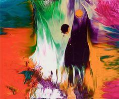 Artistic ink splatters