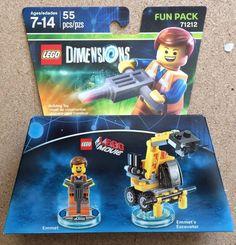 Lego Dimensions - The Lego Movie - Emmet Fun Pack - Model 71212 - In Hand #WarnerHomeVideo