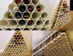 A Hot Wheels Parking Garage out of PVC pipe. 35 Crafts to Make With or For Your Boys - CafeMom Hot Wheels Storage, Toy Car Storage, Matchbox Car Storage, Matchbox Cars, Diy For Kids, Crafts For Kids, Pvc Projects, Ideas Para Organizar, Ideias Diy