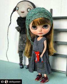 #Repost @dollqueeen (@get_repost) ・・・ #customblythe #doll #blythe #blythedoll #chaoskatenkosmos