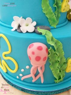 Tarta Bob Esponga - Spongebob cake www.tartasdelunallena.blogspot.com maria jose cake designer