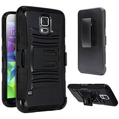 S5 Case, Galaxy S5 Case, Samsung Galaxy S5 Belt Clip Case Shockproof Drop Proof Heavy Duty Rugged Soft Silicone Dual Layer Holster Armor Case BLACK with Kickstand for Samsung Galaxy S5 i9600 SV GS5 (Black) Vakoo http://www.amazon.com/dp/B00KXKR712/ref=cm_sw_r_pi_dp_ItCovb0WZEWM6