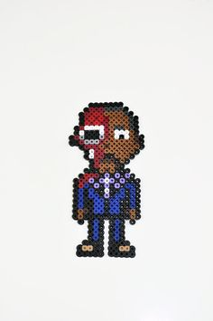 Breaking Bad Gus perler bead magnet by TheCraftyChimera