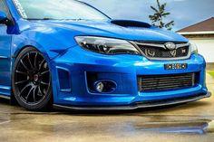 Blue Subaru with black wheels Subaru Wrx Hatchback, Jdm Subaru, Subaru Impreza Sti, Subaru Cars, Jdm Cars, Import Cars, Japan Cars, Sweet Cars, Rally Car