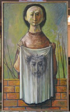 """""""Veronica's Veil,"""" Lester Raymer. I know this is supposed to be myth n' legend, but I have a thing for and about Veronica and the women who provided comfort."""