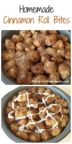 Homemade Cinnamon Roll Bites