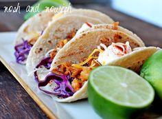 Honey Sesame Fish Tacos w/Lime Greek Yogurt Sauce   Nosh and Nourish
