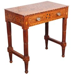 Folk Art Parquetry Side Table | From a unique collection of antique and modern side tables at https://www.1stdibs.com/furniture/tables/side-tables/