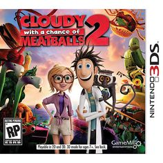 """Cloudy With A Chance of Meatballs 2 for Nintendo 3DS - Game Mill Entertainment - Toys """"R"""" Us $30"""