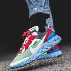 ee7943eaa901b Nike x Undercover Epic React Element 87 Volt Lakeside Colorways BQ2718-700
