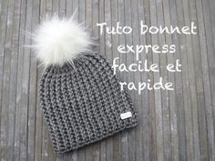 TUTO BONNET EXPRESS AU CROCHET FACILE Easy hat crochet GORRO PUNTO FACIL CROCHET - YouTube