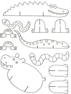 Standing Paper or Cardboard Animal Templates