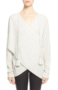 Derek Lam 10 Crosby Tasseled Cross Front Cashmere Sweater available at #Nordstrom