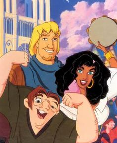 "In ""The Hunchback of Notre Dome"", Esmeralda falls in love with Phoebus the Captain, and ends up with him. Quasimodo, the hunchback is also inlove with Esmeralda, yet she never sees him as more than a person to take care of. The message seems to imply that even if you are the sweet hero type figure, you have to be handsome in order to get the girl or guy."