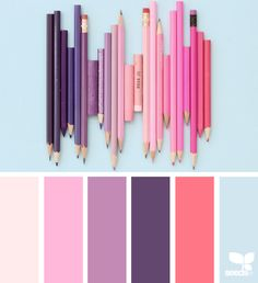 { color supply } image via: The post Color Supply appeared first on Design Seeds. Palettes Color, Colour Pallette, Design Seeds, Image Crayon, Deco Rose, Pink Color Schemes, Color Combinations, Color Collage, Color Balance