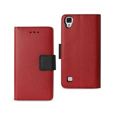 REIKO LG X STYLE (TRIBUTE HD) 3-IN-1 WALLET CASE IN RED