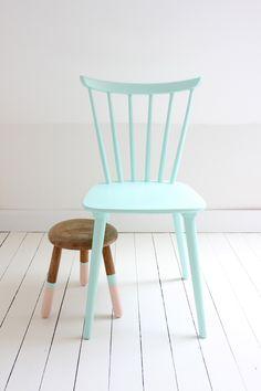 chaise vintage vert menthe pastel mint green vintage chair Cuisine Vintage,  Meuble Vintage, Repeindre ee2afbfd514d