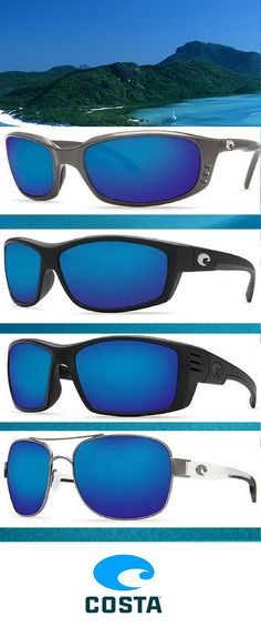 Blue Blue Blue! Just like the sea! See the New collection of Costa Del Mar sunglasses at Vistion Direct!