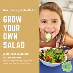 Grow Your Own Salad: We bet you won't stop doing this activity as kids who grow edibles are more likely to eat them. Adults too! Grow Your Own, Thought Provoking, Make It Simple, Gardens, Salad, Activities, Learning, Eat, Children