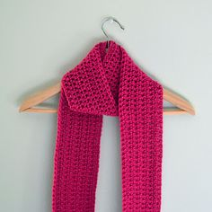 Beautiful simple crocheted scarf by Liz. She inspires me to try my hand at crocheting.