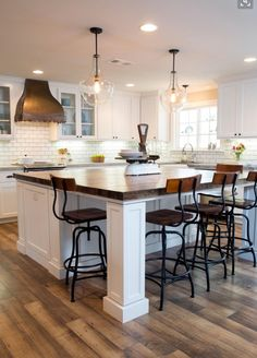 Love the butcher block island