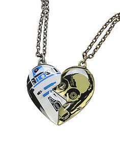 Star Wars & Best Friends Necklace Set from Hot Topic. Saved to Things I want as gifts. Bijoux Star Wars, Star Wars Jewelry, Bestfriend Necklaces For 2, Best Friend Necklaces, Star Wars Ring, Star Wars Day, Star Wars Facts, Star Wars Merchandise, Diamond Cross Necklaces