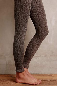 Marled Knit Tights - anthropologie.com