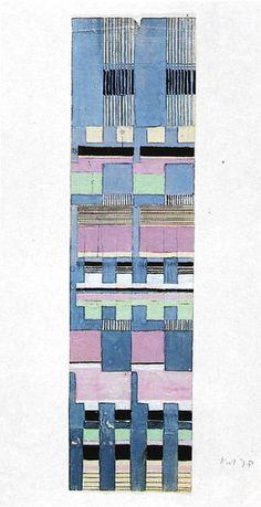 Gunta Stölzl - Bauhaus Master; Design for Jacquard woven fabric Circa 1928 45.5x11.7 cm Bauhaus-Archiv Berlin