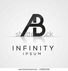 Elegant black and gold alphabet A and B letter logo. Vector illustration.