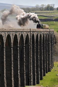 British Railways Steam at 40 miles from Leeds, United Kingdom by davehewitt - Duke of Gloucester passes over Ribblehead viaduct with a special from York to Carlisle Brighton, Berlin Paris, Ribblehead Viaduct, Train Miniature, Beau Site, Steam Railway, Yorkshire Dales, Yorkshire England, North Yorkshire
