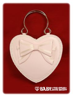 Baby the stars shine bright Ribbon heart bag in Pink