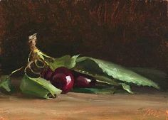 Julian Merrow-Smith ~ painting of Cherries