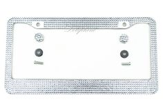 * Item: License Plate Frame + Matching Crystal screw Caps Cover  * Color: Clear   (Welcome to mix colors)  https://www.etsy.com/listing/152222978/multi-color-bling-crystal-rhinestone?ref=shop_home_active  * Stone: Rhinestone  * Material: Metal Chrome  * Compatible For: Frame fits all standard US License plates  * Size: 12.25Length X 6.25Wide  * Shipment: 1. One Day Ship out  2. USPS first Class welcome to visit my store:  http://www.etsy.com/shop/TheDoLi?ref=si_shop