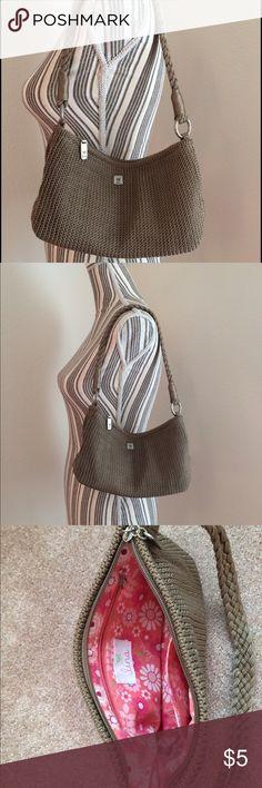 Tan woven shoulder bag Lina tan woven shoulder bag small stain on bottom of bag Lina Bags Mini Bags