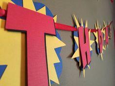 Banner de cumpleaños de superhéroes por modestedge en Etsy                                                                                                                                                                                 More