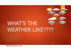 Whats the weather like?