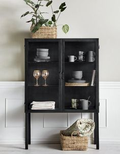 A stunning iron buffet style cabinet. Defiantly a cabinet to add the wow factor to your living space. Complete with 2 internal shelves. The Industrial cabinet with glass paneled doors. On sale now at The Forest & Co Decor Interior Design, Modern Interior, Interior Decorating, Showcase Cabinet, Classic Cabinets, Styling A Buffet, Cabinet Styles, Home Decor Inspiration, China Cabinet