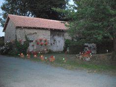 lumières vers la grange