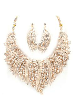 Gorgeous Necklace Set/with Earrings