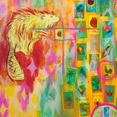 Corazon | Mixed media on canvas | - Riley Wilkinson