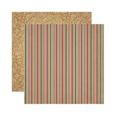 Reminisce - A Christmas Story Collection - 12 x 12 Double Sided Paper - Christmas Stripe at Scrapbook.com