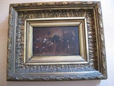 This is a painting on a panel! Signed ... c. 1920/30 ! #Miniature
