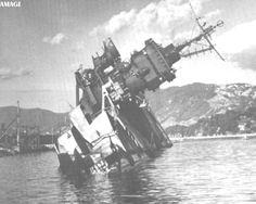 IJN carrier Amagi in Kure harbor