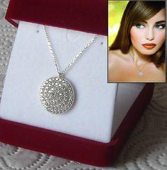 925 Sterling Silver Diamond Look Zirconia Necklace