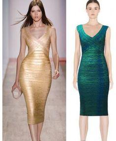 bodycon bandage dress, HMALACHITE GREEN FOIL-PRINTED BANDAGE DRESS - DRESSES bandage dresses for cheap #gold