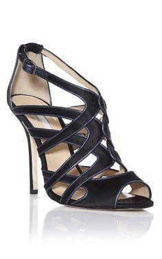 Oscar de la Renta - Black Lila Sandals