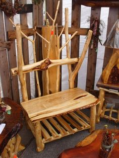 furniture made from trees | ... Benches | Benches & Chairs | Handcrafted Log Furniture by Cedar Stuff